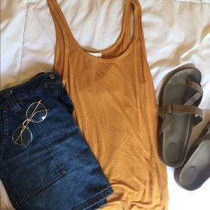 Forever 21 mustard yellow tank top